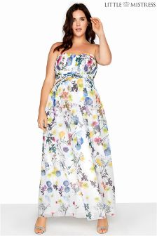 Little Mistress Floral Bandeau Maxi