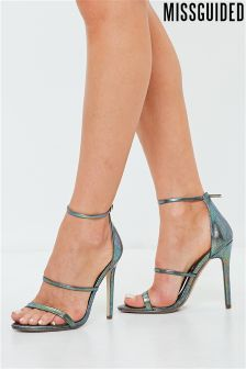 Missguided Metallic Barely There Heels
