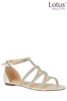 Lotus Diamanté T Bar Sandals