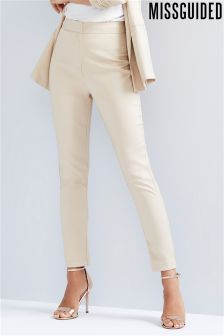 Missguided Crepe Tailored Cigarette Pants