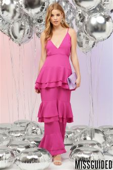 Missguided Ruffle Layered Maxi Dress