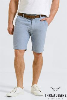 Threadbare Belted Oxford Shorts