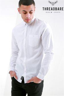 Koszula z długim rękawem z domieszką lnu Threadbare