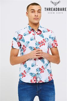 Threadbare Floral Print Short Sleeve Shirt