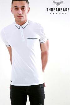 Threadbare White Polo T-Shirt