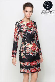 Robe à manches longues Comino Couture imprimée à fleurs