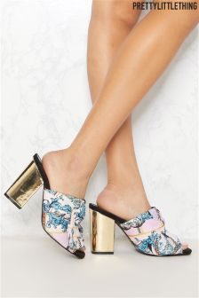 PrettyLittleThing Printed Mules