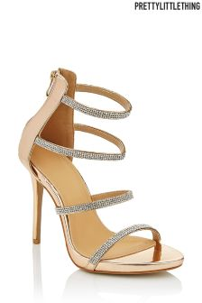PrettyLittleThing Embellished Strappy Heels