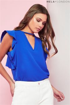 Mela London Ruffle Sleeve Blouse