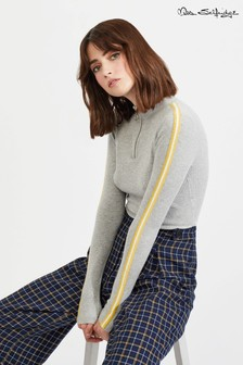 Miss Selfridge Funnel Neck Stripe Sleeve Jumper