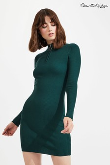 Miss Selfridge Ribbed Mini Dress
