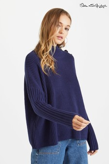 Miss Selfridge Button Neck Jumper