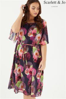 Scarlett & Jo Floral Print Kimono Dress