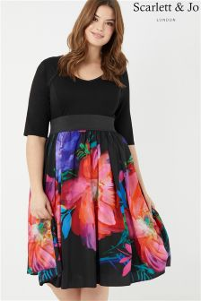 Scarlett & Jo Floral Print 2 In 1 Dress