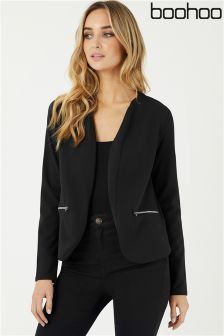 Boohoo Zip Pocket Blazer