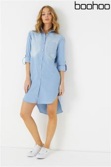 Boohoo Denim Shirt Dress