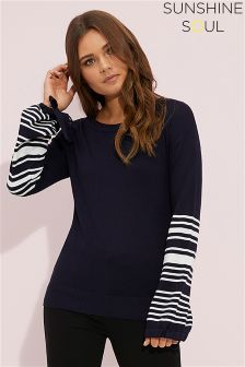 Sunshine Soul Stripe Wide Sleeve Jumper