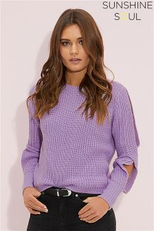 Sunshine Soul Open Arm Detail Jumper
