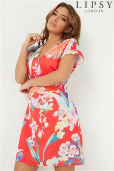 Lipsy Amy Print Kimono Dress