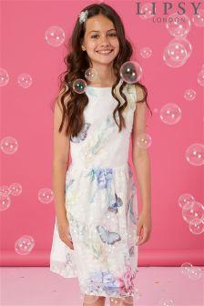 Lipsy Georgina Print Burnout Mini Dress