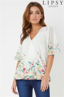 Lipsy Kimono Sleeve Wrap Top