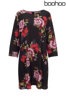 Boohoo Plus Floral Printed Shift Dress