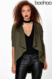 Boohoo Plus Jules Crepe Waterfall Jacket