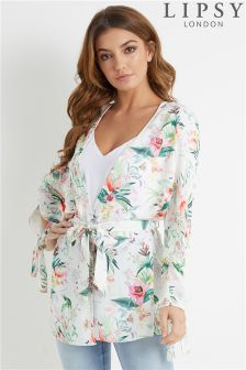 Lipsy Satin Floral Printed Duster