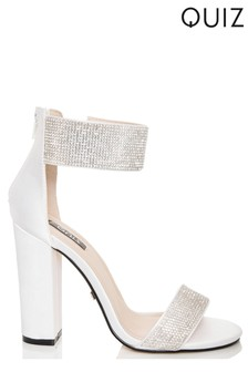 Quiz Diamanté Ankle Strap Sandal
