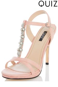 Quiz Pearl Heeled Sandals