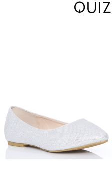 Quiz Glitter Flat Pumps