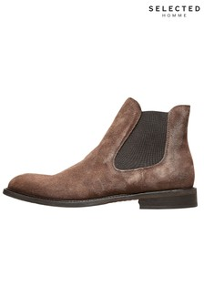 Bottines Chelsea Selected Homme en daim