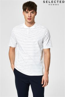 Selected Homme Striped Polo T-Shirt