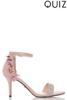Quiz Feather Heeled Sandals