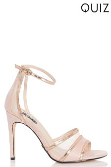 Quiz Metallic Heeled Sandals