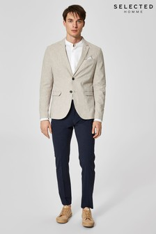 Selected Homme Linen Blend Blazer
