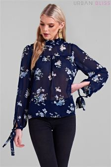 Urban Bliss Evie Tie Neck Floral Blouse