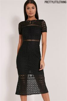 PrettyLittleThing Midira Crochet Lace Midi Dress