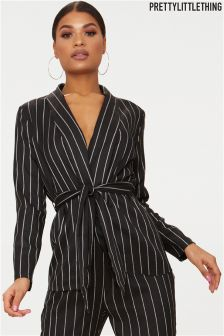 PrettyLittleThing Stripe Co-ord Blazer