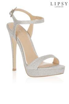 Lipsy Stardust Glitter Platform Sandals
