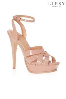 Lipsy Beveled Platform Sandals