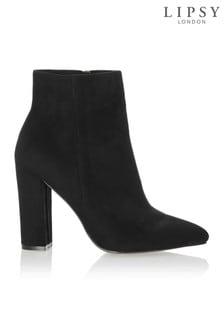 Lipsy Almond Toe Block Heel Ankle Boots