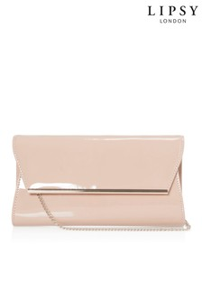 Lipsy Bar Detail Patent Clutch Bag