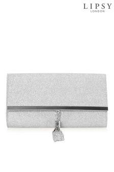 Lipsy Glitter Stardust Tassle Clutch Bag