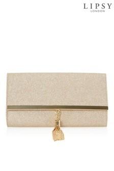 Lipsy Stardust Glitter Tassel Clutch Bag