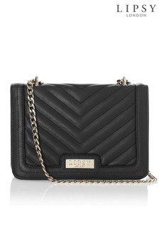 Lipsy Chevron Quilted Crossbody Chain Bag