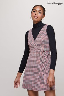 Miss Selfridge D-Ring Check Pinny Dress