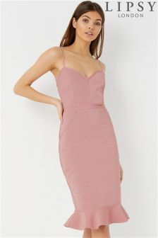 Lipsy Peplum Hem Bandage Dress