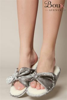 Boux Avenue Velvet Bow Slippers