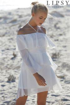 Lipsy Tiered Halter Dress